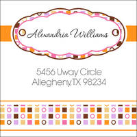 Circles and Squares Citrus Return Address Label