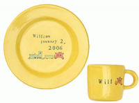 Yellow Baby Bright Plate and Cup Set