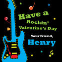 You Rock Valentine's Stickers
