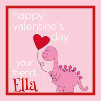 Dino Love Valentine's Stickers