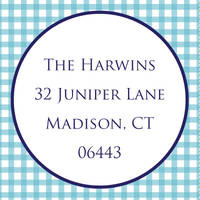 Blue Gingham Label SL462