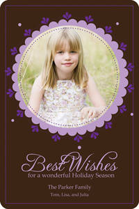 Chocolate Lavender Wishes Card
