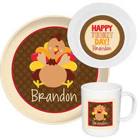 Turkey Gobble Melamine Set