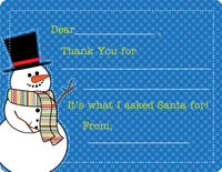 Mr. Snowman Fill-in Card