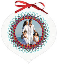 Elegant Frills Ornament Card