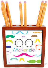 Bright Moustaches Pencil and Pen Holder