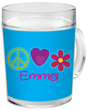 Bright Stitches Clear Acrylic Mug