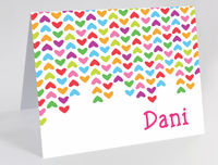 Lined Hearts Foldover Card