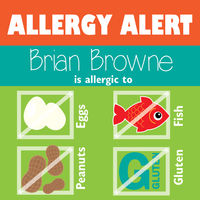 Square Color Block Allergy Stickers