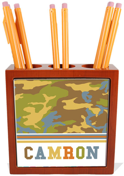 Camo Boy Pencil and Pen Holder