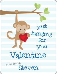 Monkey Love Valentines Card