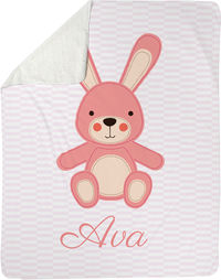 Pink Bunny Sherpa Blanket