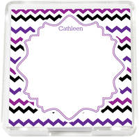 Purple Waves Mini Memo Sheets