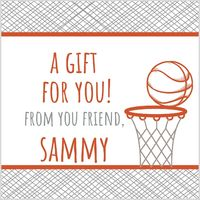 Basketball Hoop Gift Stickers