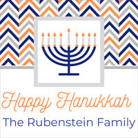 Chevron Menorah Gift Stickers