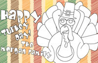 Color Me Pilgrim Turkey Paper Placemats