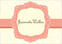 Peach and Cream Calling Card