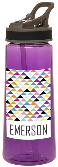 Bright Triangles Water Bottle