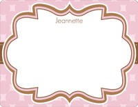 Chocolate Pink Note Card