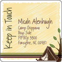Camp Tent Calling Card