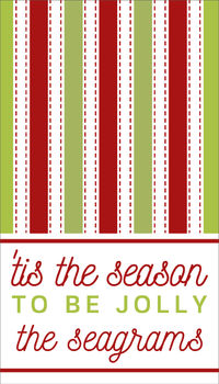 Green and Red Lines Holidays Gift Sticker