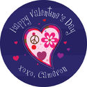 Funky Hearts Valentine's Stickers