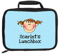 Blue Dots Lunch Box