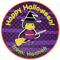 Broomstick Witch Gift Stickers