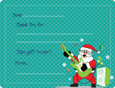 Rockin' Santa Fill-in Card