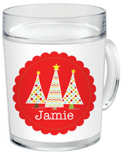 Holiday Trees Clear Acrylic Mug