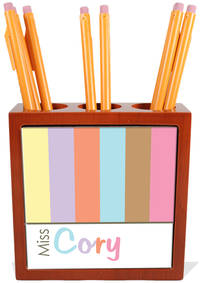 Pastel Border Pencil and Pen Holder