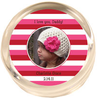 Love Stripes Photo Paperweight PWR451
