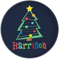 Crazy Christmas Tree Plate