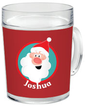 Jolly Santa Clear Acrylic Mug