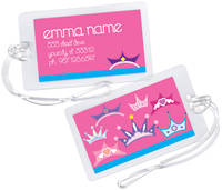 Princess Crowns Luggage Tag