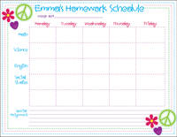 Bright Stitches Homework Chart