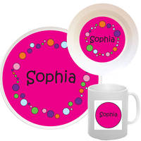 Bubbles Girl  Melamine Set