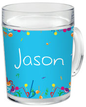 Bright Notes Aqua Clear Acrylic Mug