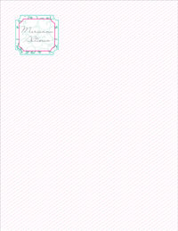 Dainty Stripes Large Notepad