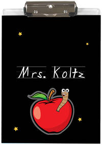 Apple For Teacher Acrylic Clipboard