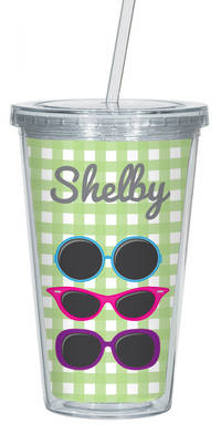 Cool Summer Shades Clear Acrylic Tumbler