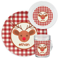 Country Reindeer Dinnerware Set