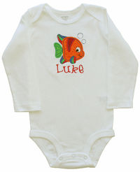 Orange Fish Onesie