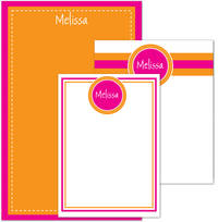 Fuchsia Orange Pad Set
