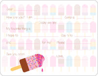 Bright Popsicles Camp Fill-in Card