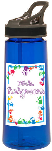 Colorful Hands Water Bottle