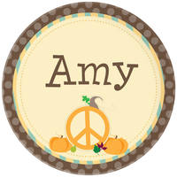 Pumpkin Peace Plate