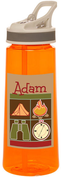 Camp Retro Icons Water Bottle