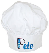 Chef Hat Blue Embroidery