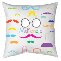 Bright Mustaches Autograph Camp Pillow